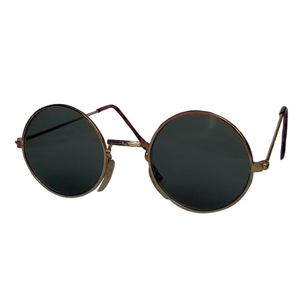 IE 056 Gold, Classic metal round sunglasses