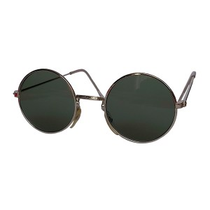 IE 056 Silver, Classic metal round sunglasses