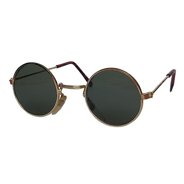 IE 059 Gold, Classic metal round sunglasses