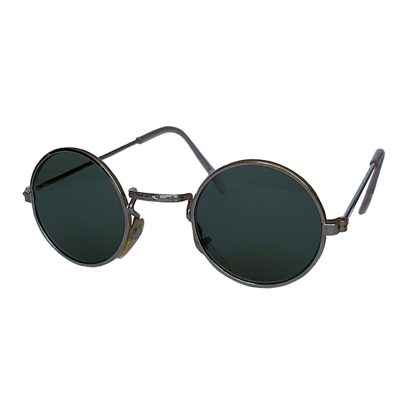IE 059 Silver, Classic metal round sunglasses