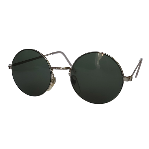 IE 141 Silver, Classic metal round sunglasses