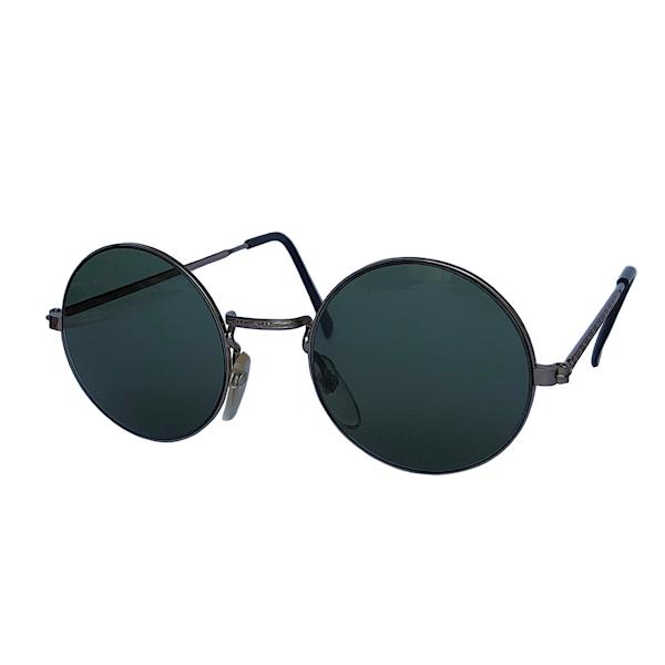 IE 141 Antique Silver, Classic metal round sunglasses
