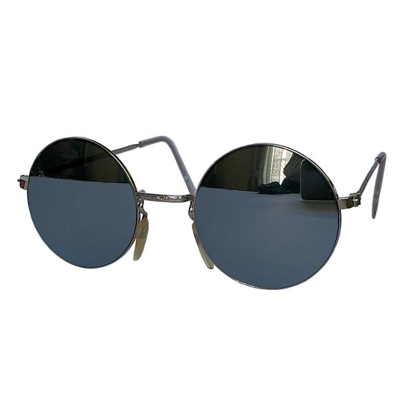 IE 141 Silver mirror, Classic metal round sunglasses