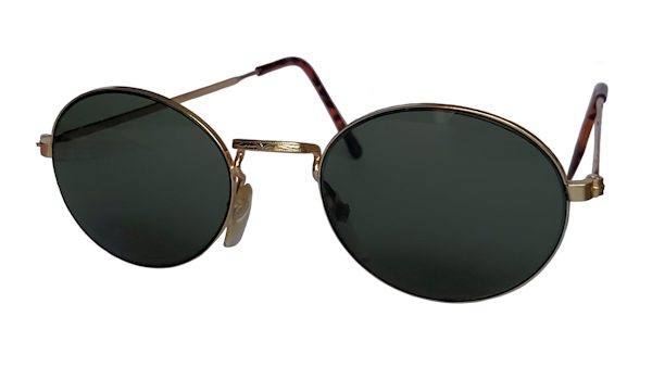 IE 142 Gold, Classic metal oval sunglasses