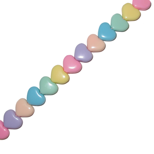 IEBEK Girls Rainbow Candy Hearts Bead Spectacle Chain