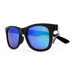 Kids - IE9011, Black frame kids sunglasses with Revo mirror lens