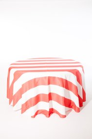 Coral Broadway Stripe I Do Linens (3)