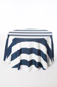 Navy Broadway Stripe_I Do Linens