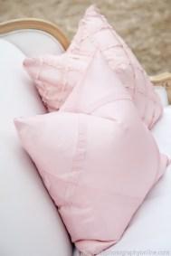I Do Linens pink criss cross pink edmonton pillows
