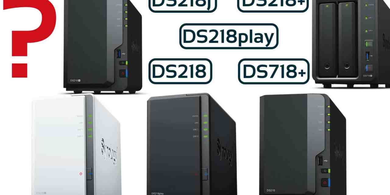 DS218j, DS218play, DS218, DS218+, DS718+ 2-Bay DiskStation Kaufguide