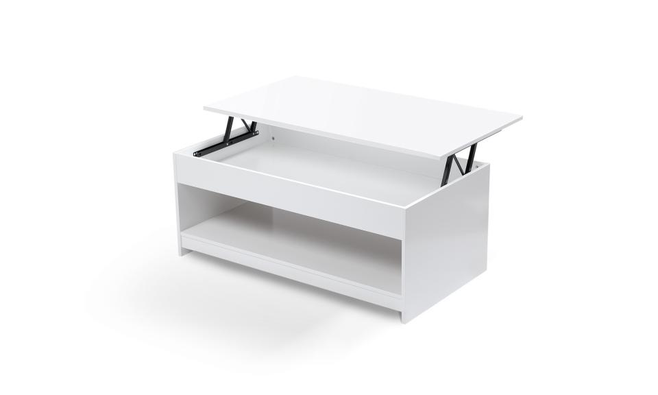 table basse avec plateau relevable grand modele carra