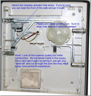 Opening a Sentry Safe with a Rubber Mallet, some WD40 and a Screwdriver « Russ' Do It Yourself