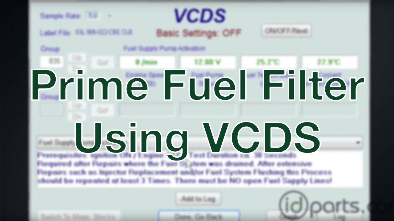 Prime TDI Fuel Filter with VCDS – Diesel News, Info and Guides