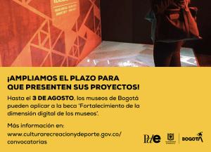 Museo de Bogotá - ampliación beca 'Fortalecimiento de la dimensión digital en los museos'