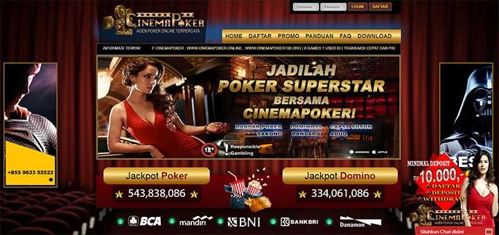 Daftar Poker Online di Cinemapoker - Daftar Poker Online Terpercaya ID Pro PKV
