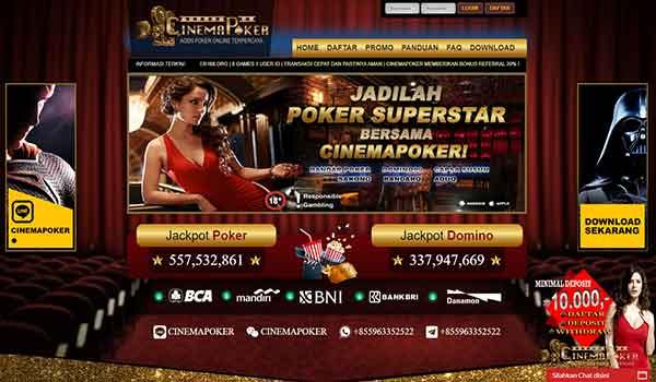 Cinemapoker 1 - Daftar BandarQ Online PKV Games Terpercaya