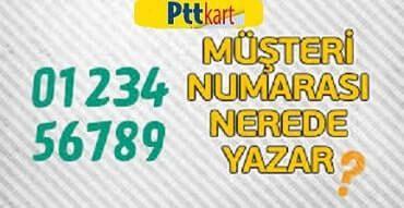 Ptt kart müşteri numarası