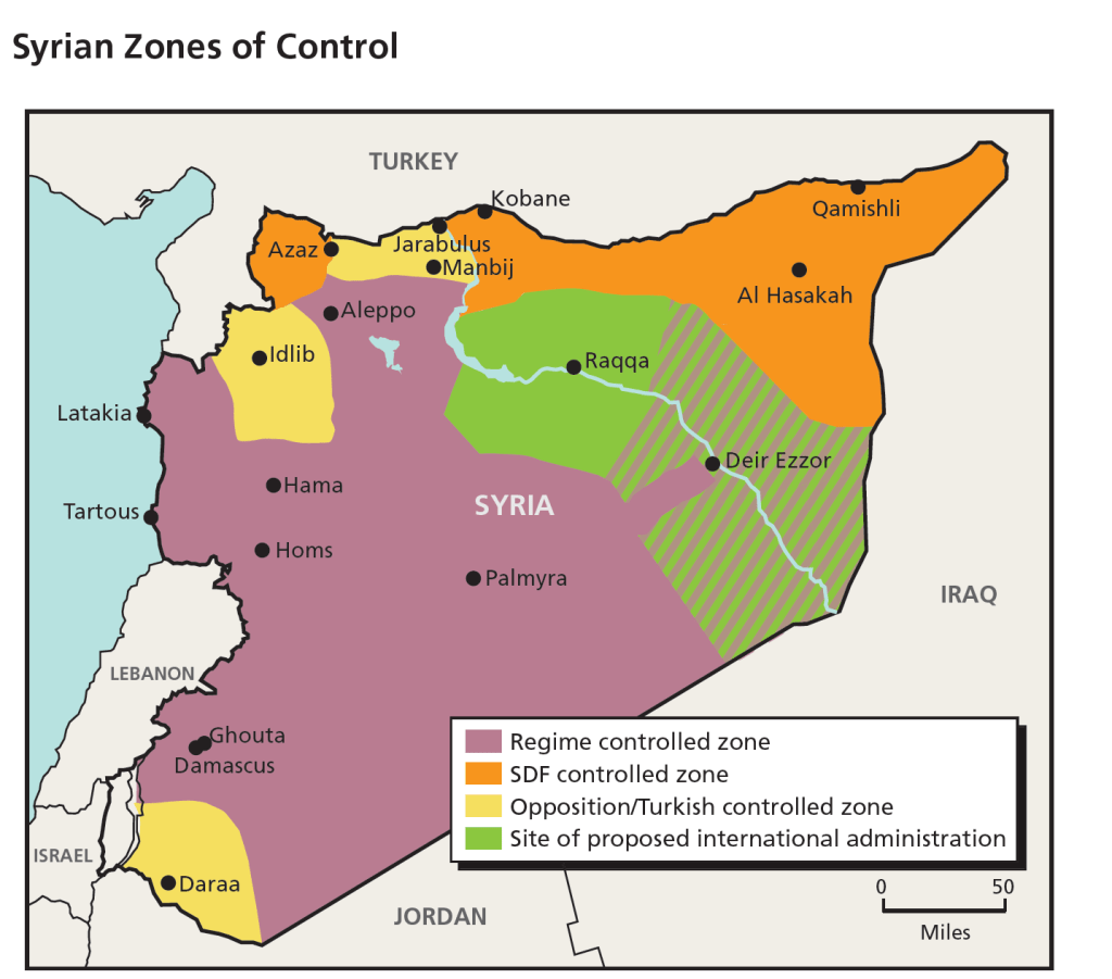 syria zone of control