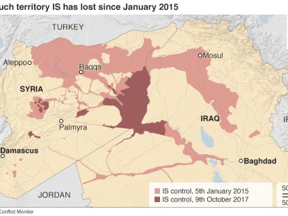 ما خسرته داعش من الأراضي منذ كانون الثاني/يناير 2015