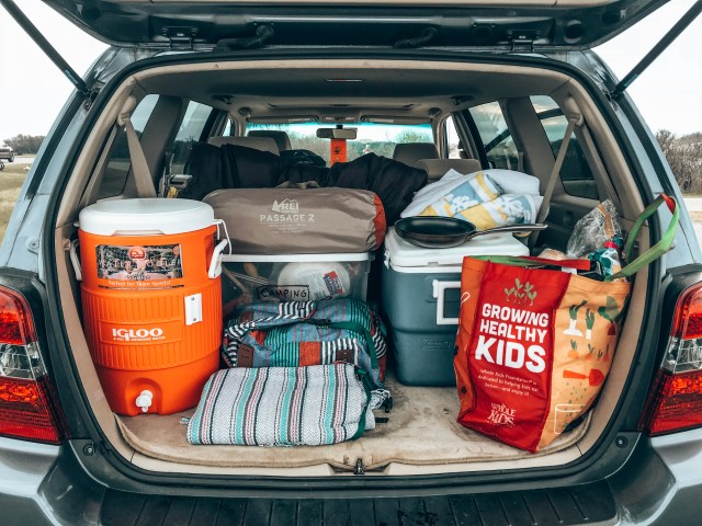 Car camping at Assateague Island National Seashore