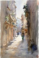 Igor-Sava-watercolor-old-street