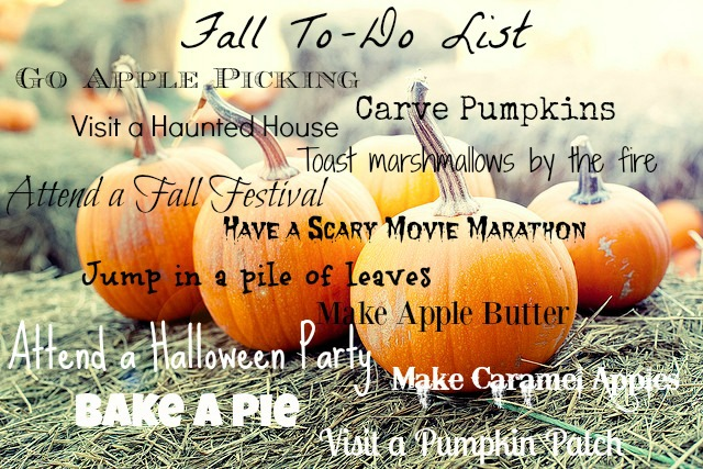 Fall To- Do list
