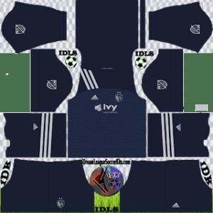 Sporting Kansas City DLS Kit 2021 away For DLS19