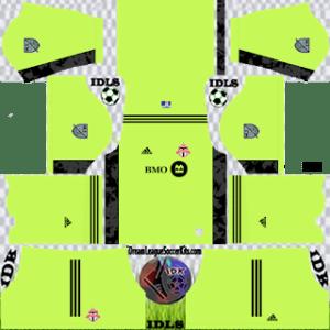 Toronto FC DLS Kit 2021 gk Home For DLS19