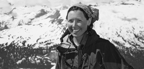 Jen glaciers black and white
