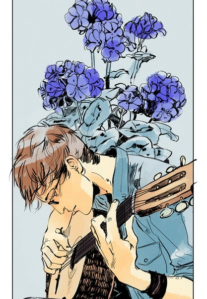 Nova fan art na linguagem das flores: Simon Lewis