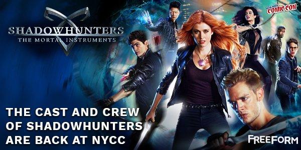 """[ATUALIZADO #7] """"Shadowhunters"""" estará na #NYCC 2016!"""