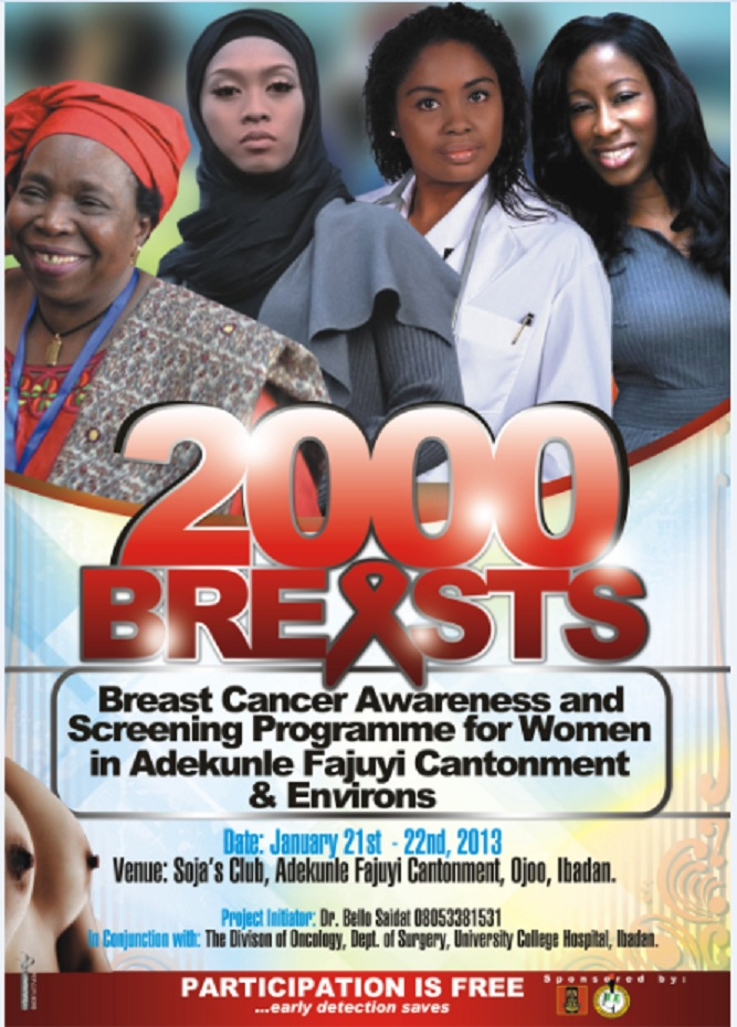 2000 breasts…perhaps a lump you pick will save someone's life. (1/2)