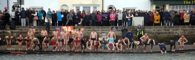 Some of the Competitors in the annual Christmas Day Weymouth Lions Club Harbour Swim. https://idrismartin.wordpress.com/