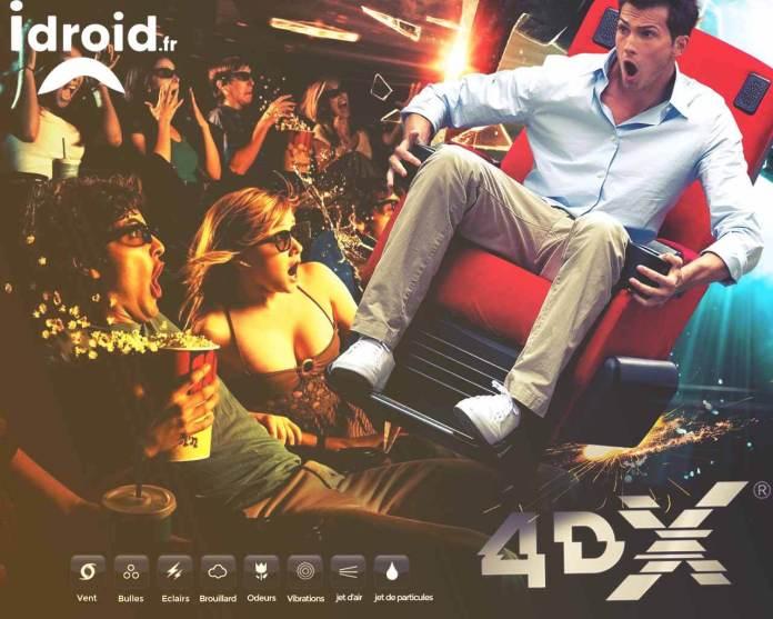 Expérience ultime, le cinéma sensoriel avec le 4DX : des effets physiques vibrations, inclinaisons, odeurs, pluie, au Pathé la Villette