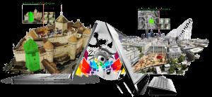Modélisation 3D par drone. Photogrammétrie aérienne.