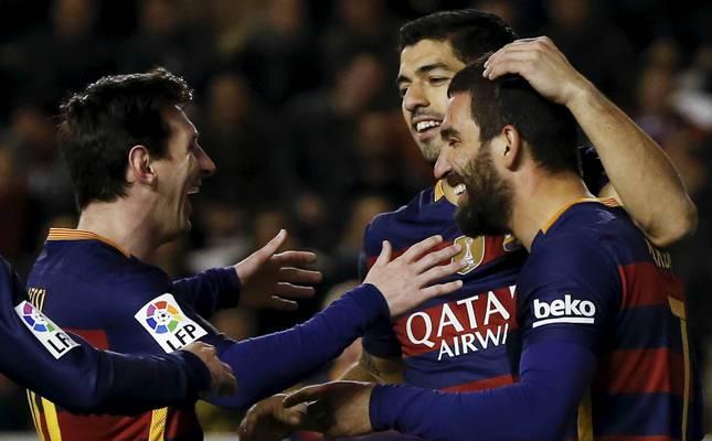 Image result for Arda Turan Messi Neymar and suarez