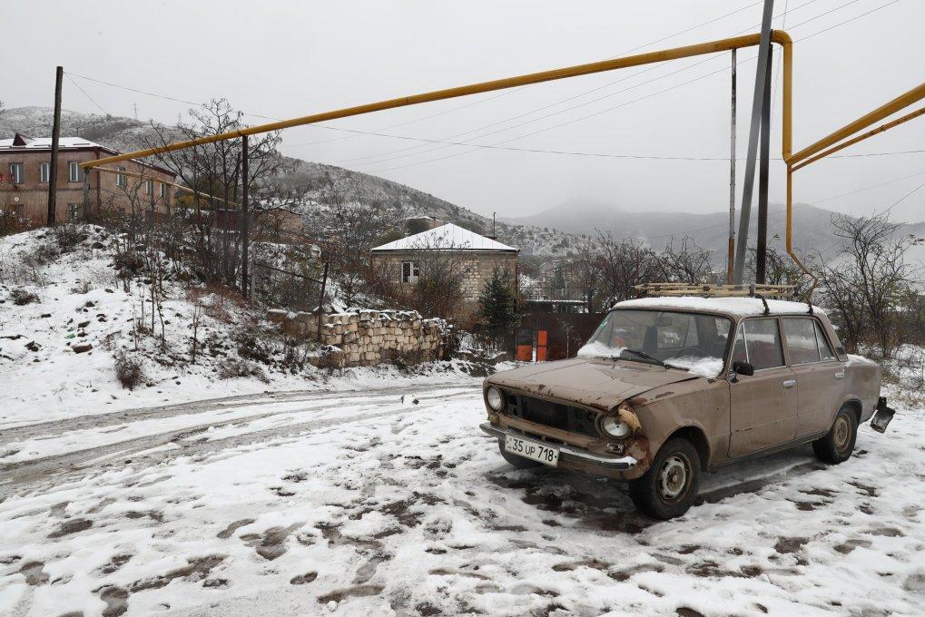 Une vue d'un quartier résidentiel de la ville de Lachin.  (Alexander Ryumin / TASS via Reuters)