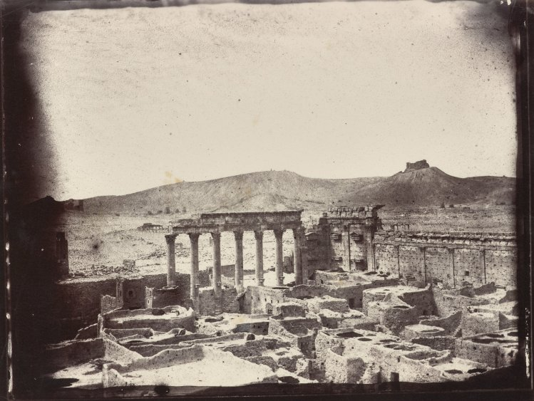 Temple of Bel in Palmyra by Louis Vignes, 1864. (Courtesy of Getty)