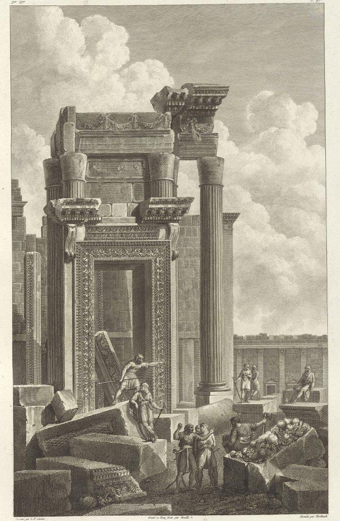 Temple of Bel, Jean-Baptiste Reville and Pierre-Gabriel Berthault after Louis-François Cassas, etching, 46 by 29 centimeters.