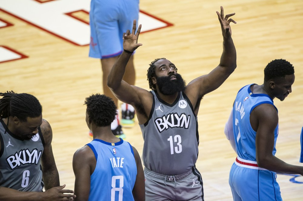 Nets' Harden hits triple-double in Houston win, 76ers quiet Jazz | Daily  Sabah
