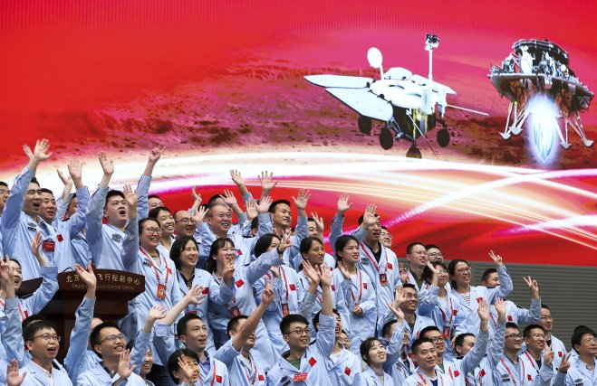 China's Zhurong rover successfully lands on Mars | Daily Sabah