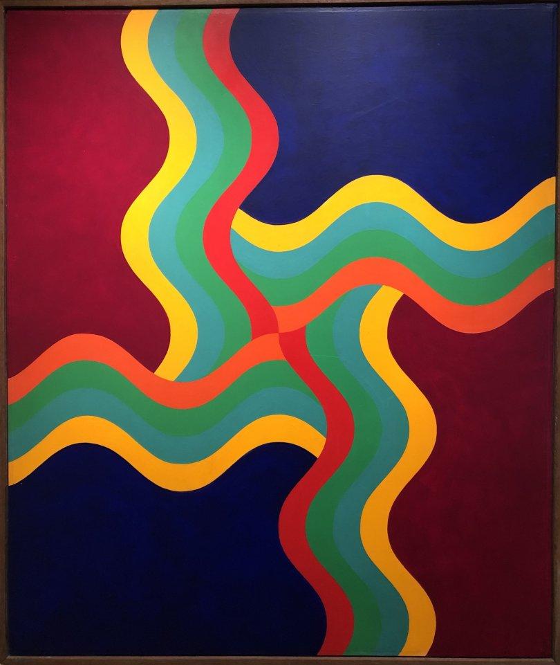 Mohamed Melehi, 'Composition,' 1970, acrylic on wood. (Photo by Matt Hanson)