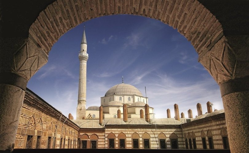 A view of the Hisar Mosque in the Historical Port City of Izmir, western Turkey.