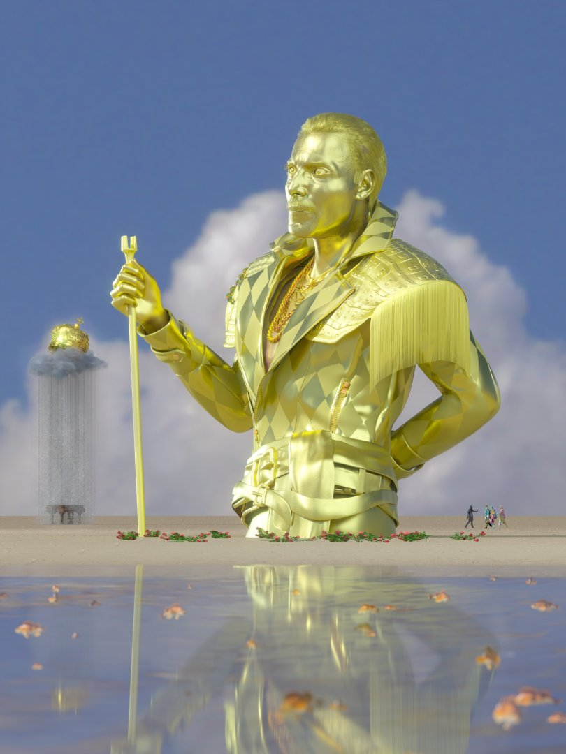 NFT artwork 'Celebration Of Uniquity' by artist Chad Knight is seen in this undated handout image. (REUTERS Photo)