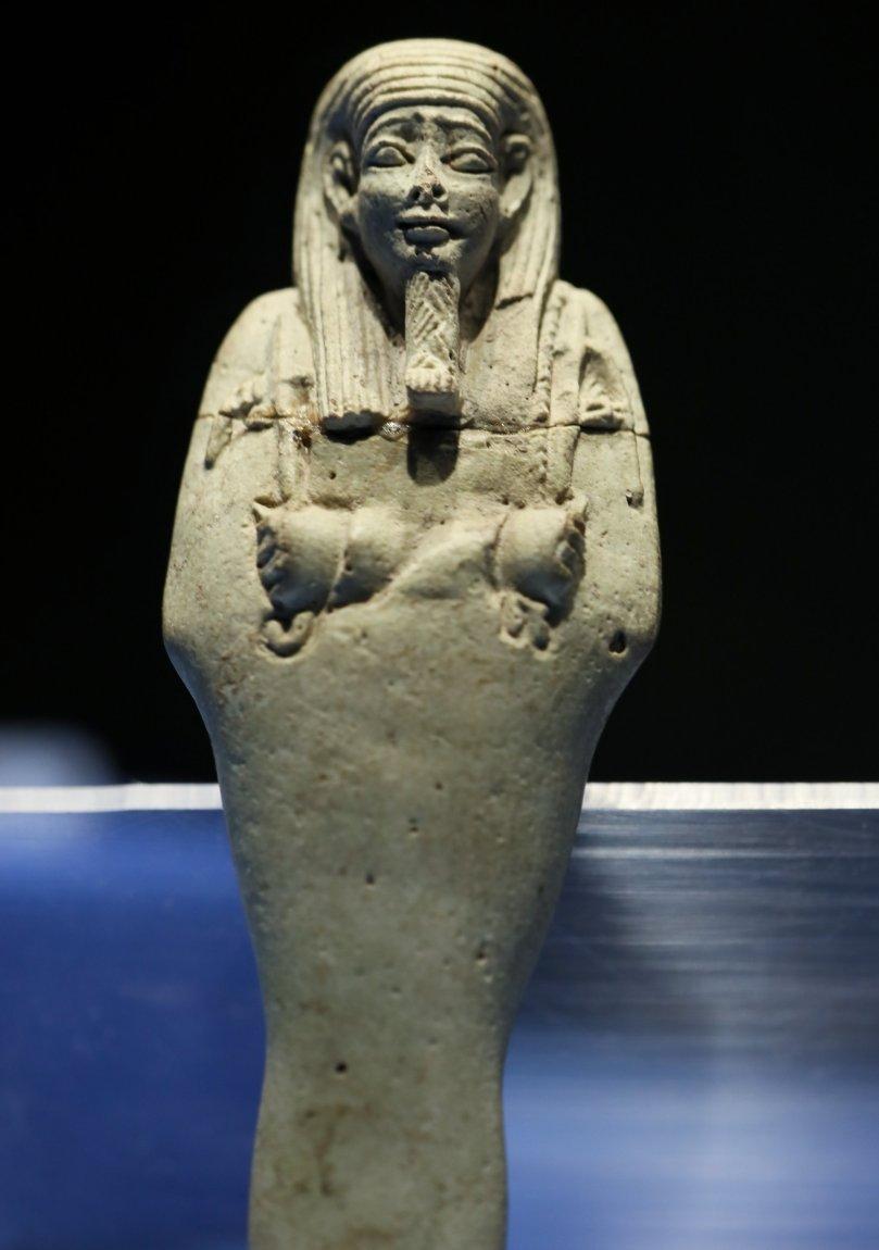 An Ushabti figure at Izmir Archaeological Museum, Izmir, Turkey, Sept. 17, 2021. (AA Photo)