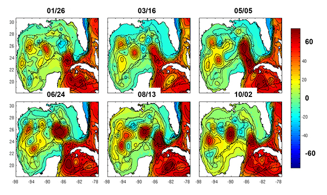 figure from Enhancing Predictability of the Loop Current variability using Gulf of Mexico Hycom