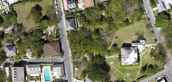 drone mapped aerial view of The Residency, Harbour Island, Bahamas, by University of Miami Institute for Data Science and Computing, Software Engineering Team