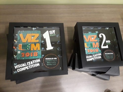 VizUM 2017 Competition 1st and 2nd place Awards