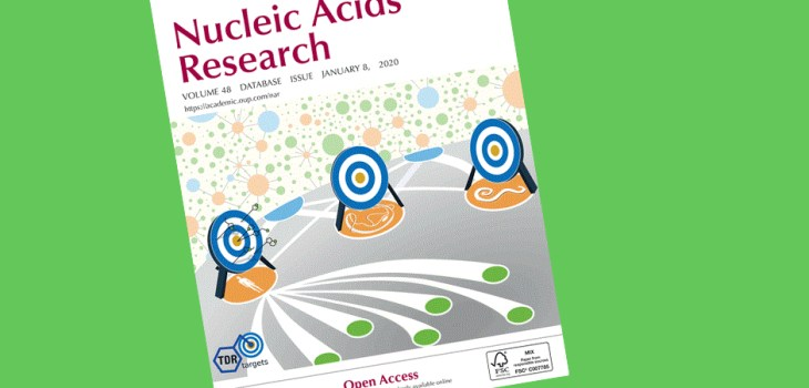 Nucleic Acids Research cover, January 8, 2020