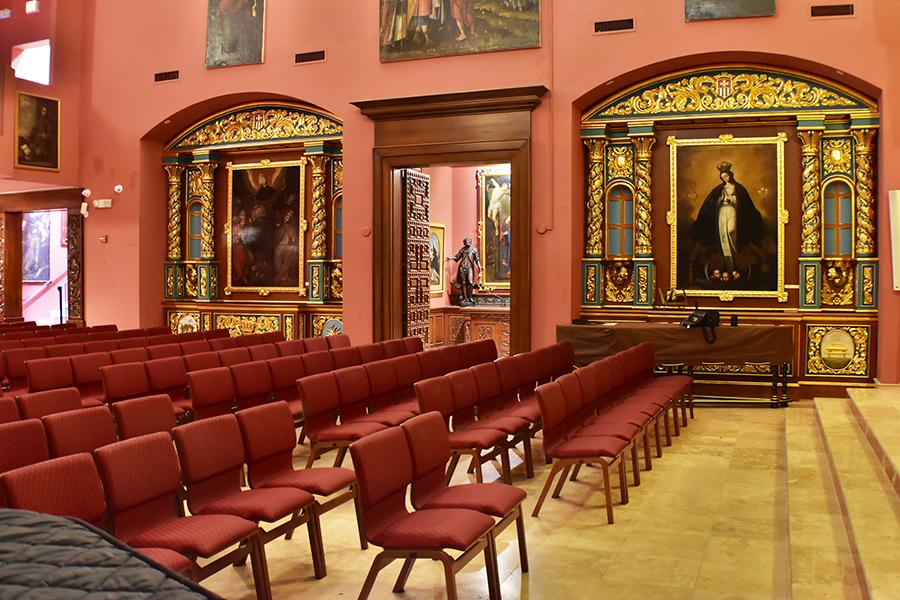 Interior Nuestra Señora de la Merced Chapel at Corpus Christi Catholic Church, in Allapattah, Miami